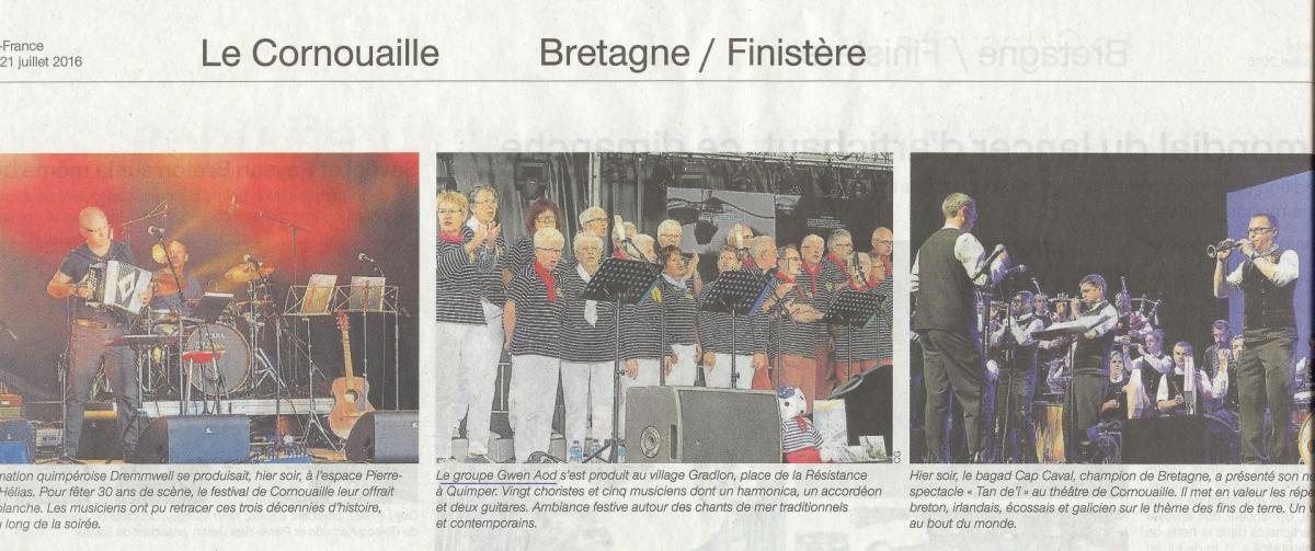 Cornouaille ouest france 21 07 2016