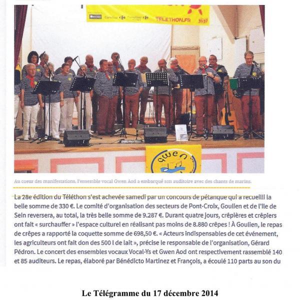 Ga telethon pont croix 2014